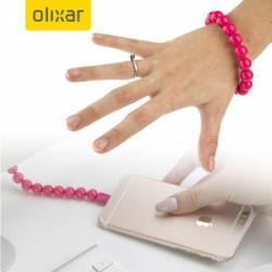 Olixar Gyöngy karkötő Micro USB kábel, pink