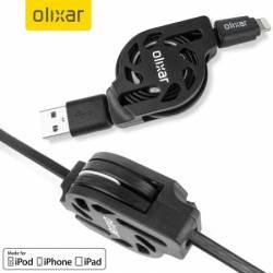 Olixar Csévélhető MFI Lightning Charge & Sync kábel, feketek