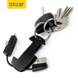 Olixar 2-in-1 Micro USB és Lightning kábel kulcstartó