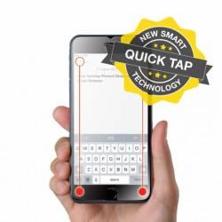 Olixar Quicktap 2 extra gomb iPhone 6/6S edzett üveg fólia