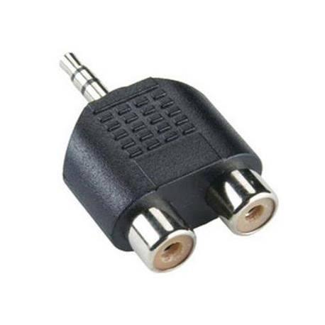 Sbox 3,5mm – 2 x RCA M/F adapter