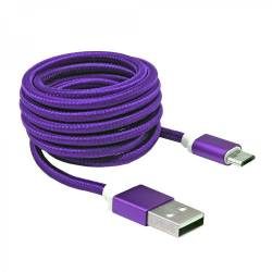 Sbox USB AM-MICRO-15U micro USB kábel - 1,5m,lila