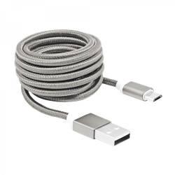 Sbox USB AM-MICRO-15W micro USB kábel - 1,5m,ezüst