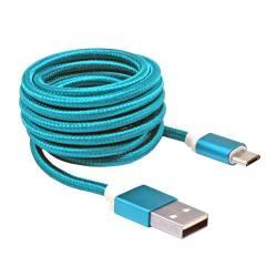 Sbox USB AM-MICRO-15BL micro USB kábel - 1,5m,kék