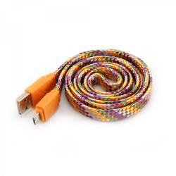 SBOX USB-103CF-O MICRO USB színes flat kábel,1m,narancs