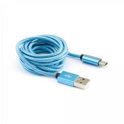 Sbox USB-TYPEC-15BL kábel M/M-1M,kék