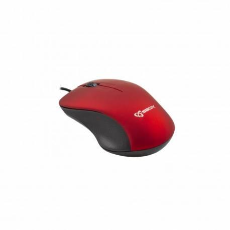 Sbox M-958R USB egér, piros