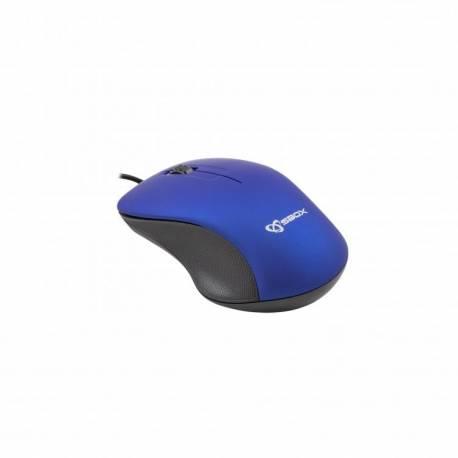 Sbox M-958BL USB egér, kék