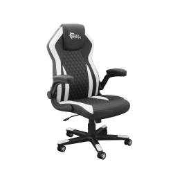 White Sahrk DERVISH K-8879B/W Gamer szék, fekete/fehér