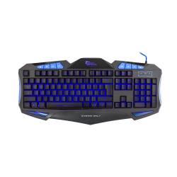 White Shark GK-1621BL SHOGUN fekete/kék gamer billentyűzet (angol)