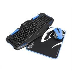 White Shark GC-3101 CHEROKEE gamer csomag egér + egérpad + billentyűzet (angol)