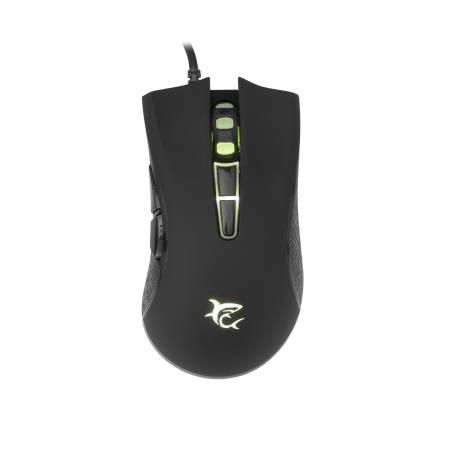 White Shark GM-5004B SARTACUS-2/B gaming egér,fekete, 6400 dpi