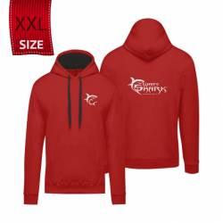 """White Shark kapucnis póló piros """"XXL"""" (felnőtt)"""