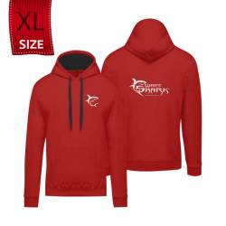 """White Shark kapucnis póló piros """"XL"""" (felnőtt)"""